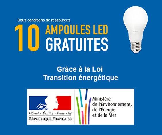Des ampoules basse consommation gratuites (ou presque)