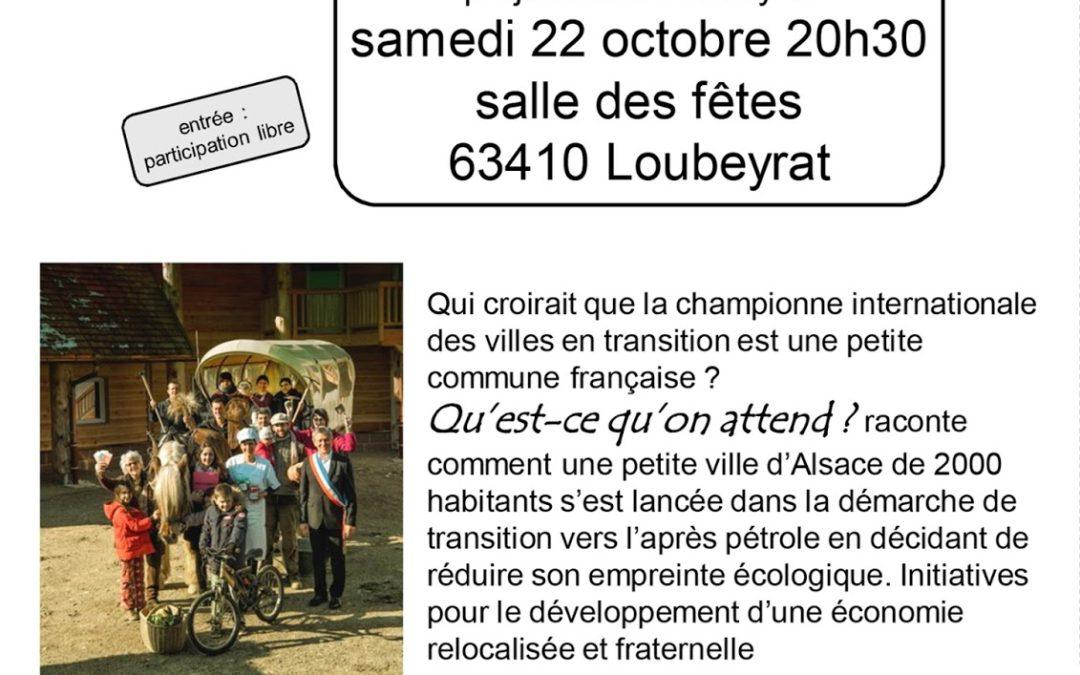 Projection à Loubeyrat, samedi 22 octobre 2016