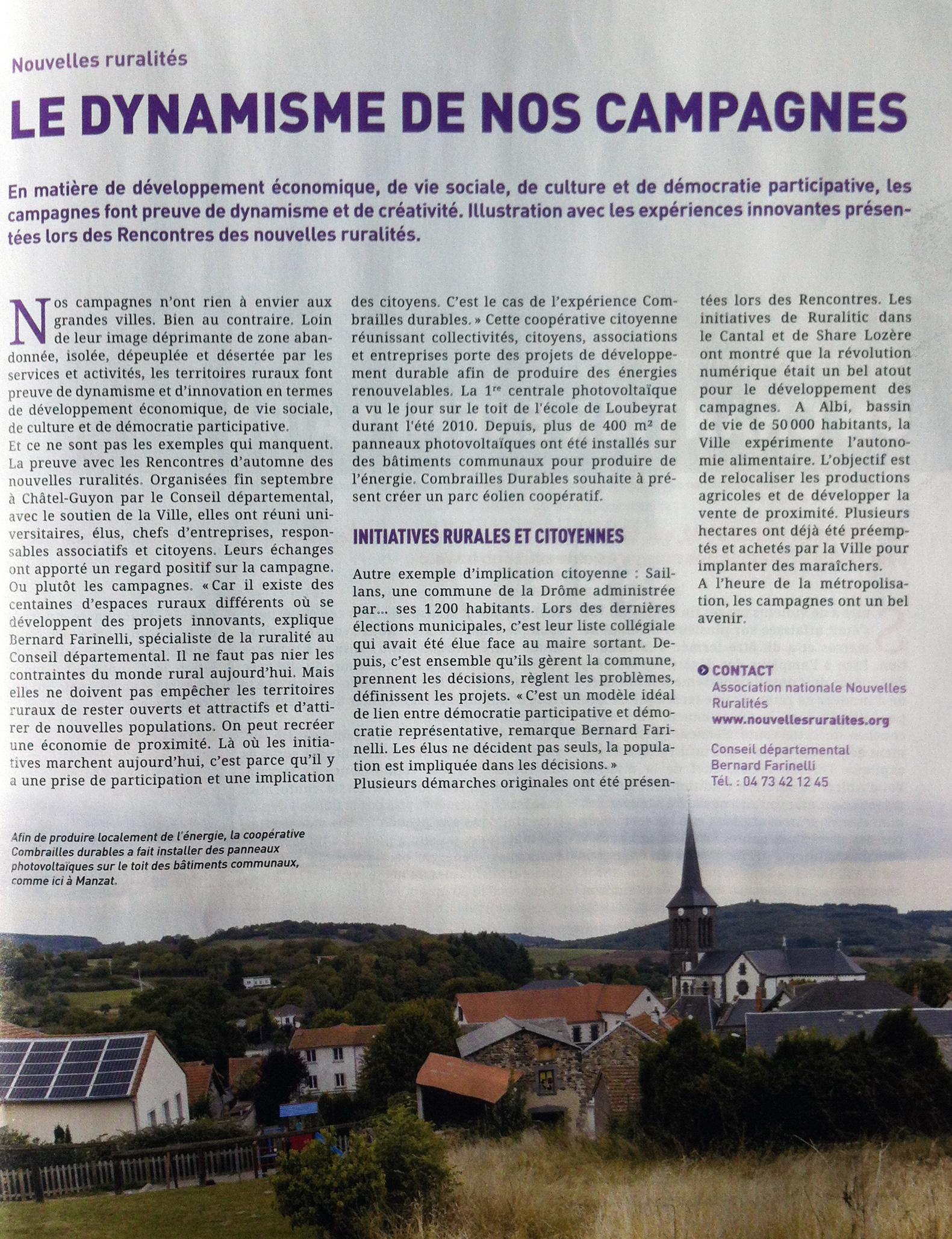 Octobre 2016 Puy de Dôme en Mouvement