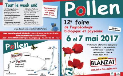 Combrailles Durables à la Foire Bio Pollen les 6 et 7 mai