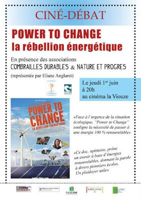 Ciné-débat Power to change : la rebellion énergétique – jeudi 1er à la Viouze