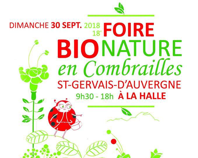 Dimanche 30 septembre : Combrailles Durables à la Foire Bio Nature en Combrailles