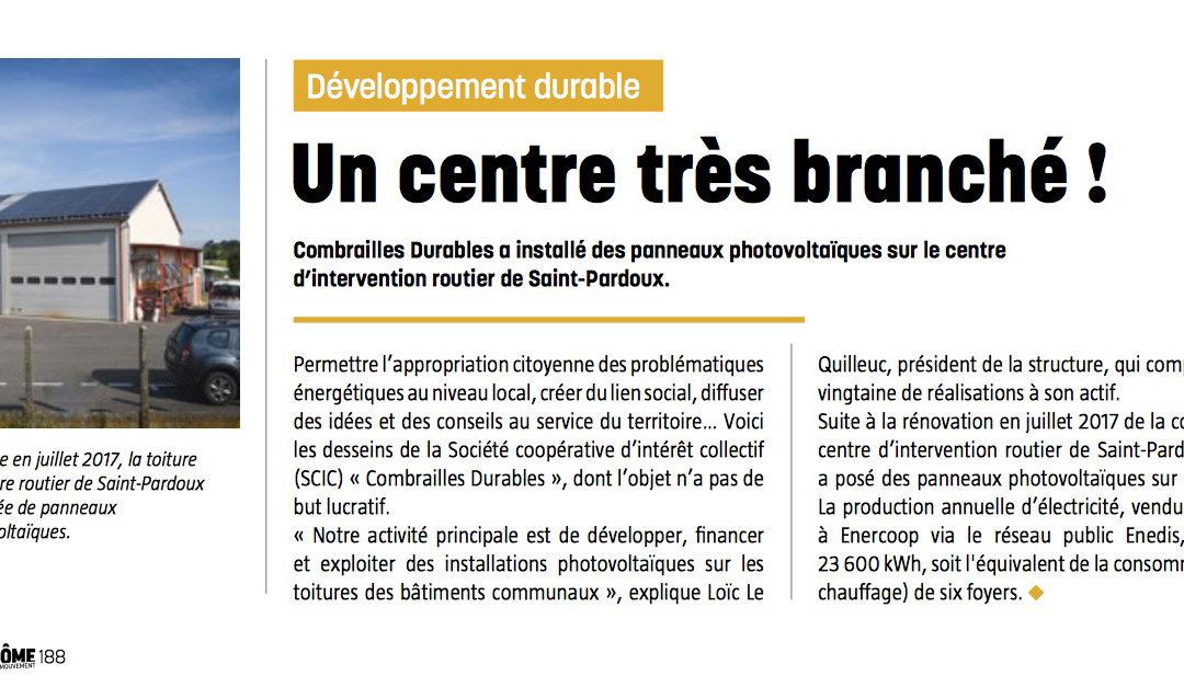 Notre 21ème centrale solaire dans le dernier numéro «Puy-de-Dôme en mouvement»