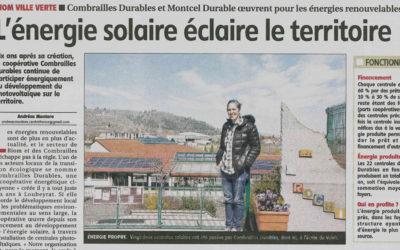 L'énergie solaire éclaire le territoire