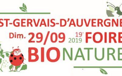 Dimanche 29 septembre : Combrailles Durables à la Foire Bio Nature en Combrailles à St Gervais